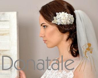 Wedding Hair Comb   Bridal Headpiece   Bridal  Hair Comb   Lace Hair Comb  Ivory Wedding Bridal hair piece Wedding headpiece - CAMILLE