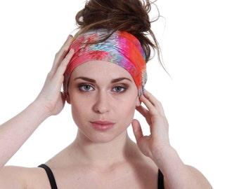 Jersey Turband Headband Headwrap. Handmade Multicolors Strechy Headband Headwrap Workout Hair Accessory for all Women and Teens