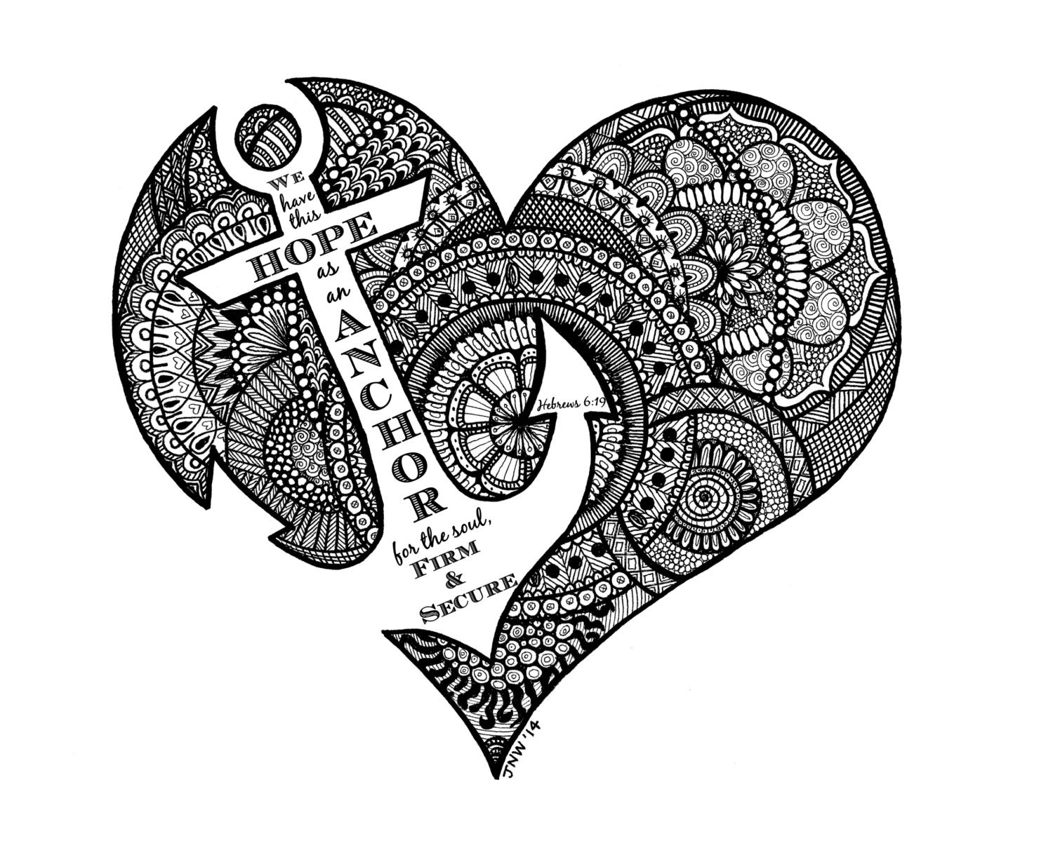 heart zentangle coloring pages - photo#42