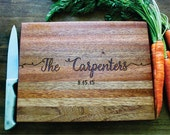 Personalized Cutting Board, Christmas Gift, Wedding Gift, Anniversary, Family Name, Newlywed Gift, Housewarming, Established Family Sign