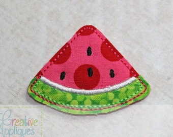 Watermelon Feltie Machine Embroidery Design 3 sizes