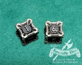 Stainless Steel Metal D6 Gaming Dice by Butler's Specialty Dice