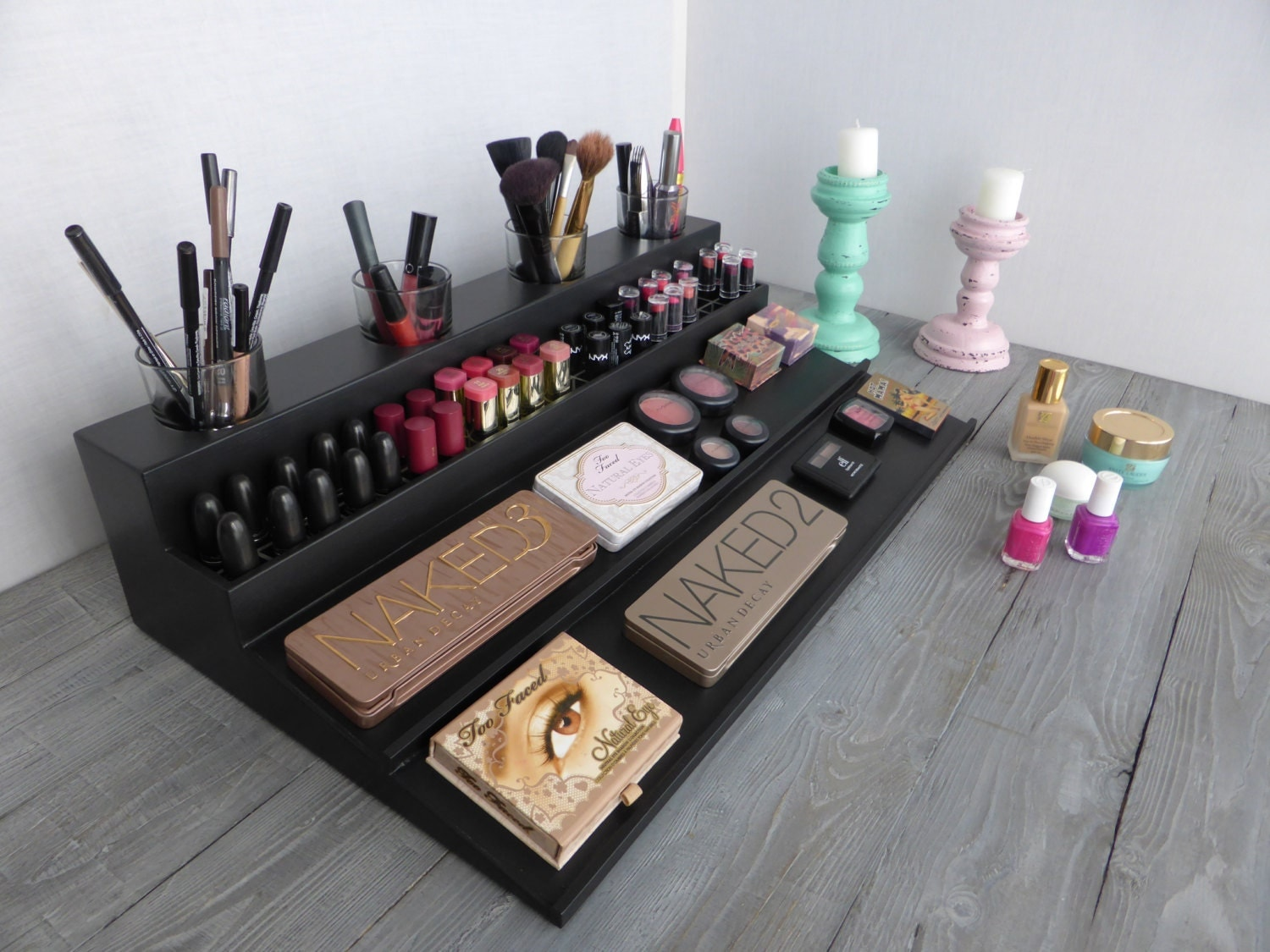 makeup organizer magnetic display beauty station in many. Black Bedroom Furniture Sets. Home Design Ideas