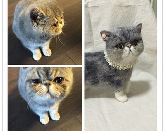 Portrait Sculpture of my Exotic Shorthair Kitten Stone - Custom Pet Soft Sculpture