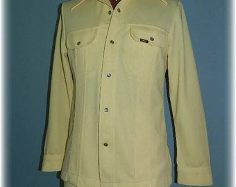 1970's Western Style Yellow Disco Leisure Suit by Lee