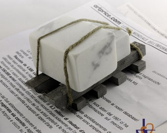 Paperweight of white Carrara marble
