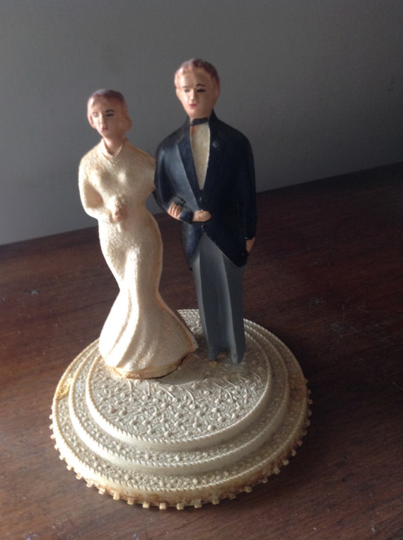 1930s wedding cake vintage wedding cake topper 1930 by artemisia1913 on etsy 10084