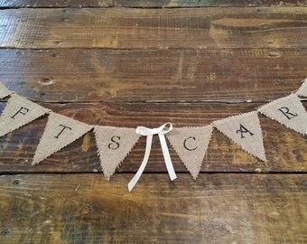 Mini Gifts and Cards Burlap Banner, Gifts Sign, Rustic Wedding Decor, Card Table Sign, Gift Table Banner, Shower Decor, Reception Banner