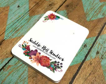Earring Cards  - Custom Earring Cards - Personalized Earring Cards - Custom Jewelry Packaging - Earring Card - Floral Watercolor - SH001036