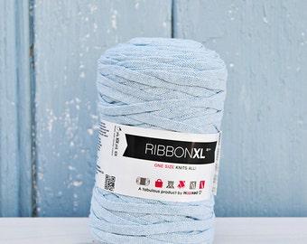 Pastel Blue Ribbon XL Yarn, Cotton Yarn XL, Recycled Cotton Yarn, Knitting, Crochet, green yarn