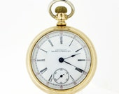 American Waltham Watch Co Pocket Watch Gold Filled with Screw Down Case