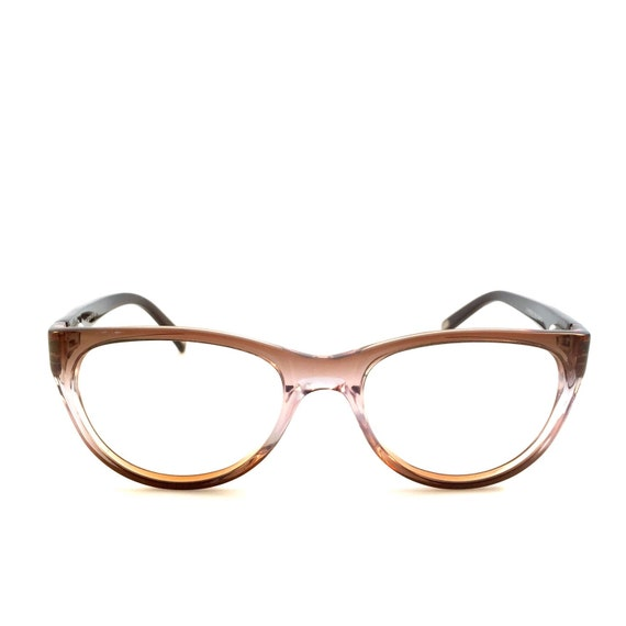 purple ombre brown glasses cateye reading by