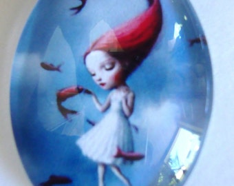 Girl Glass Cabochon