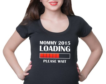 Pregnancy T-Shirt New Mommy 2015 Loading Gift For Pregnant Woman Maternity Top Pregnancy Tee Shirt