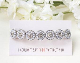 White pearl bridesmaid bracelet, bridal pearl crystal bracelet, wedding pearl jewelry, pearl bridesmaid jewelry, wedding pearl jewelry, B133