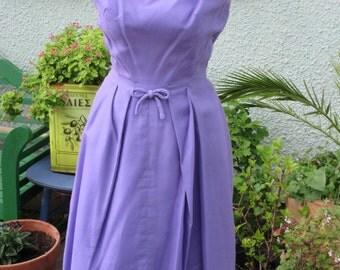 Vintage 'Cresta' Couture Lilac Gown-1960s- Size 8-10 VGC