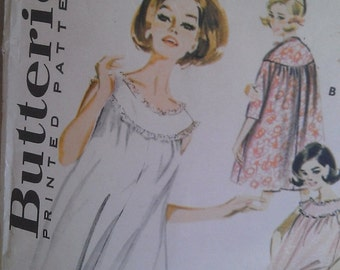 "Vintage 1960s Butterick Sewing Pattern- Misses' Lingerie Coordinates -Size 14 Bust 34""/ 86cm"