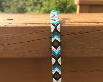 Fancy Blue Chevron Friendship Bracelet