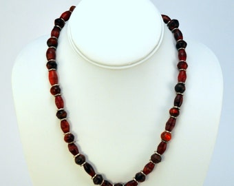 Vintage 90's Boho/Hippie Wooden Beaded Necklace