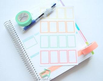 Border Half Weekly Box Sticker Sheet : Sherbert Theme Planner Stickers