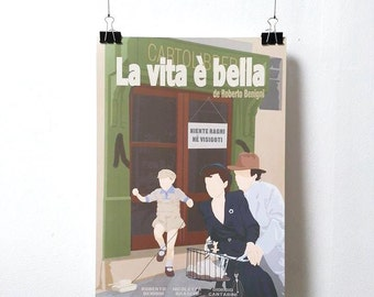 Life is Beautiful - La vita è bella - Poster - Print Roberto Begnini A3