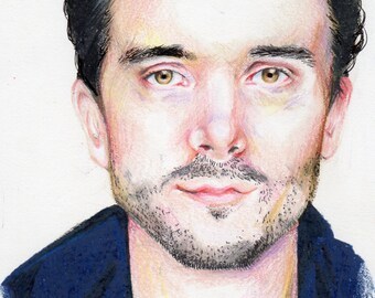 Original Colored Pencil Portrait of a Man