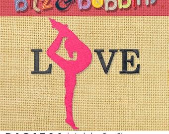 Gymnastics Digital Embroidery Design - Love Gymnastics