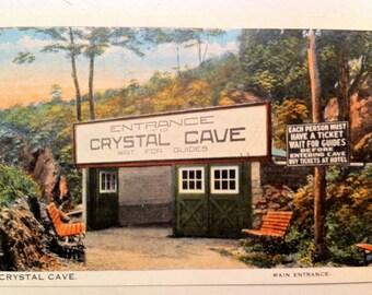 Vintage Pa Postcard Crystal Cave Kutztown Pa Berks County Mint