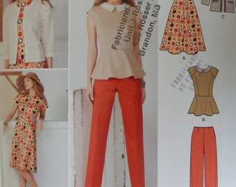 Jacket, Pants,Top And Dress Sewing Pattern/Simplicity 1699/ Sew stylish/ Misses Size 8-10-12-14-16/open front jacket,princess seam/Uncut