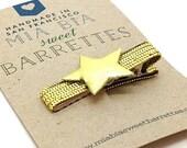 Gold Star Hair Clip Barrette