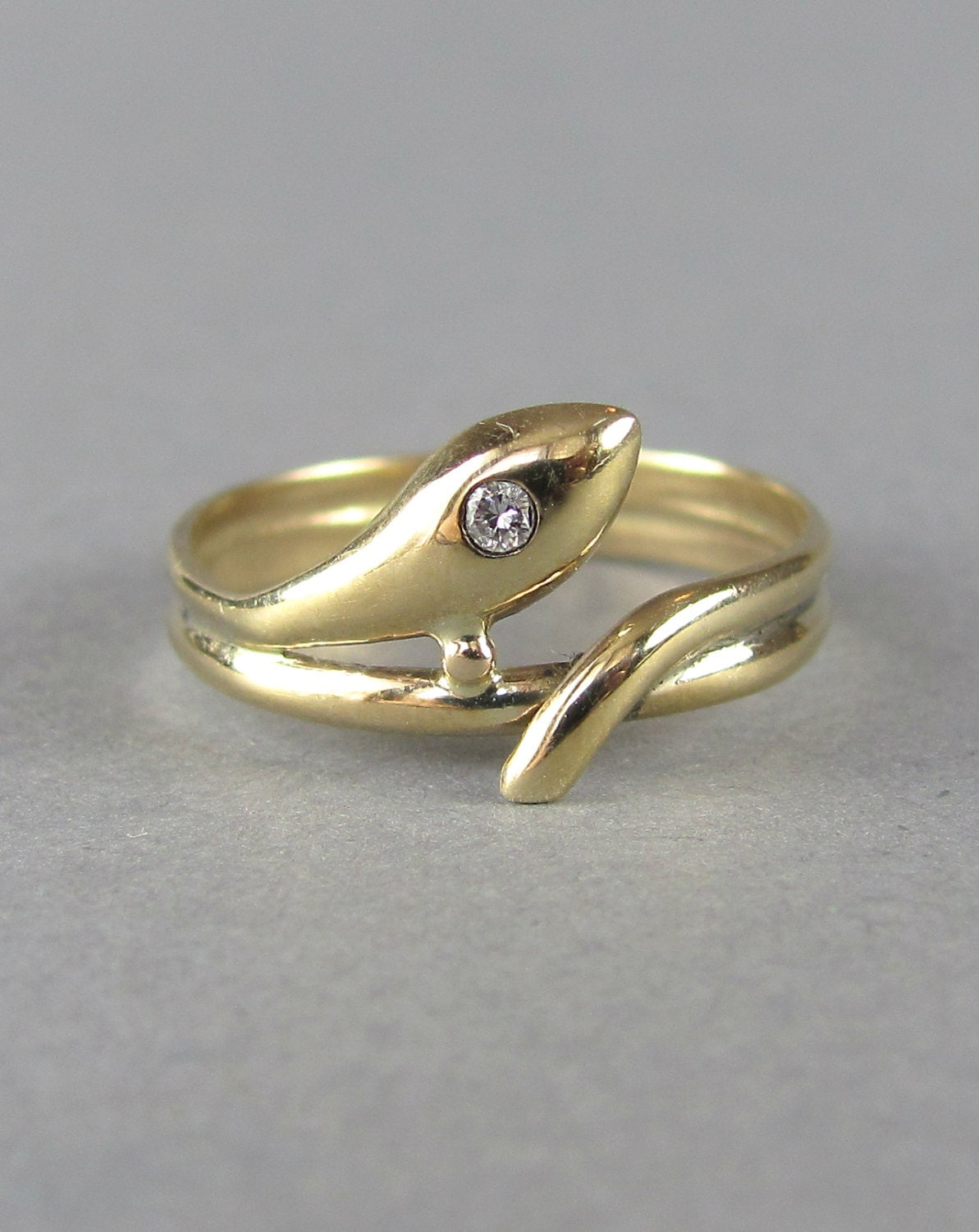 gold and snake ring vintage wedding ring by