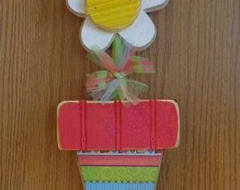 Seasonal Decor, Spring Decor, Daisy,Teachers Gift, Chunky Flower Pot