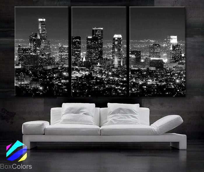 Los Angeles Wall Art large 30x 60 3 panels art canvas print beautiful