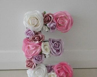 Floral Letter 'E'