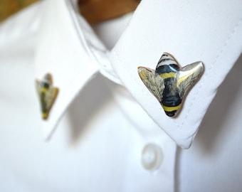 Bee shirt , bee accessory , bee jewelry , bee pin , bee brooch , bumble bee , bumble bee jewelry , bumble bee pin , bumble bee brooch