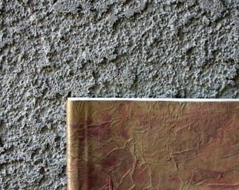 "Yellow/Brown Textured Artist Journal & Sketchbook, 5.5""x8.5"", Sepia Linen Drawing Paper"