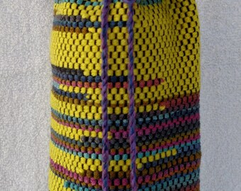 Hand Woven Bottle Bag - Sunny Mountain Jewel. #15W22
