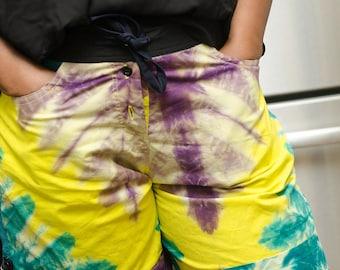 Size 8/10 African Tie-Dye Shorts