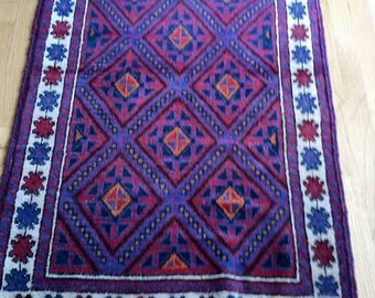 On Sale!!! Hand Woven Afghan Rug with FREE SHIPPING. Item dropped from 150.