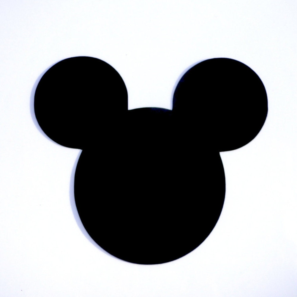 4 Mickey Mouse Head Ears Die Cut Disney's Mickey