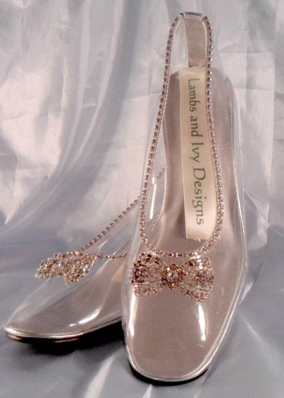 Fairytale Cinderella Glass Slipper Wedding Shoes By AJuneBride