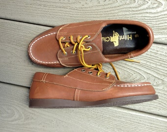 NEW Vintage Women's Brown Boat Shoes / Size 6 / Hunt Club