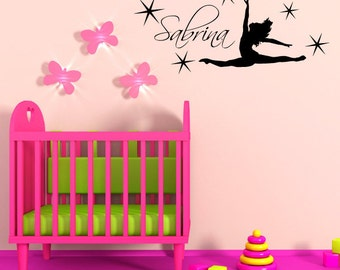 Custom Personalized Name & Dance Wall Decal sticker decor 01