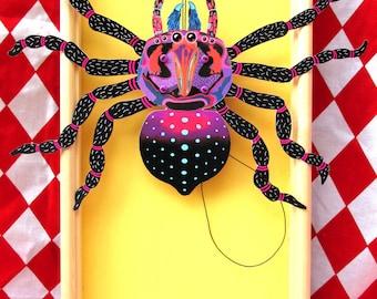 Spider jumping-jack puppet-making kit