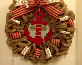 red anchor wreath