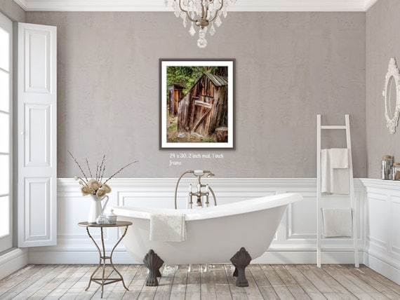 Country Photography Outhouse Bathroom Decor Rustic By