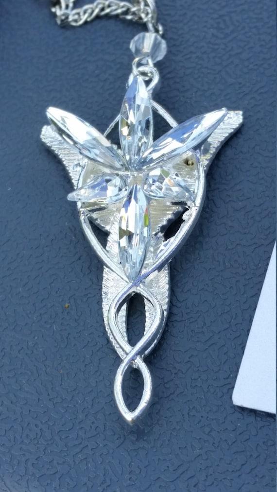 arwen evenstar pendant necklace by whitedragondesign on etsy