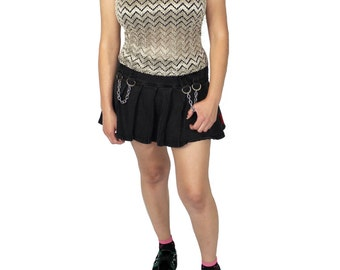 Zig Zag Pattern 90s Tank Top, Gold and Black Zig Zag Pattern Tank Top, 90s Tank Top