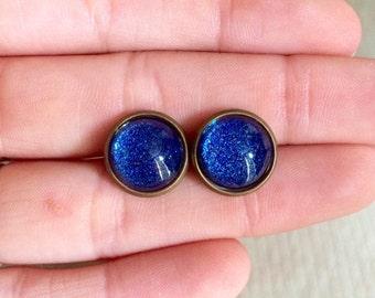 Andromeda Earrings - Antique Bronze Studs - Stud Earrings
