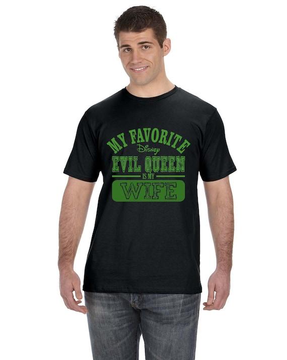 Mens My Favorite Disney Evil Queen Is My Wife Black T-ShirtDisney Evil Queen T Shirt
